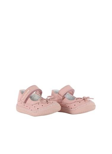 Kids A More Vera Tek Cırtlı Deri Kız Ilk Adım Ayakkabısı  Pembe